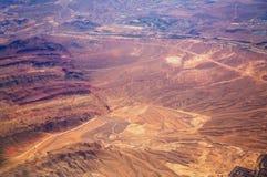 Abandone el paisaje en Las Vegas vio de un aeroplano Imágenes de archivo libres de regalías