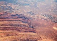 Abandone el paisaje en Las Vegas vio de un aeroplano Imagenes de archivo