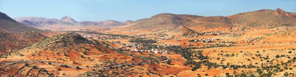Abandone el paisaje en Marruecos Imagenes de archivo