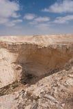 Abandone el paisaje, Negev, Israel Imágenes de archivo libres de regalías