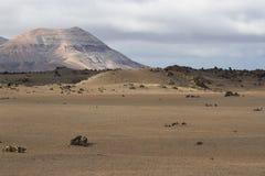 Abandone el paisaje volcánico de piedra en Lanzarote, islas Canarias Imagen de archivo libre de regalías