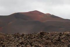 Abandone el paisaje volcánico de piedra en Lanzarote, islas Canarias Fotografía de archivo libre de regalías