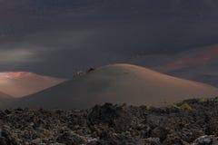 Abandone el paisaje volcánico de piedra en Lanzarote, islas Canarias Imagen de archivo