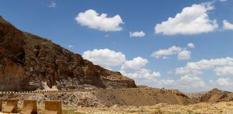 Abandone el paisaje y el camino, Jordania, Oriente Medio de la montaña Imagen de archivo