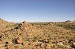 Abandone el paisaje y en el sur de Namibia Fotos de archivo