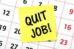 ¡Abandone el trabajo! Imagenes de archivo