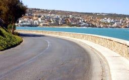 Abandone a estrada na parte dianteira do mar Imagens de Stock Royalty Free