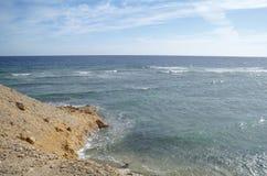 Abandone la bahía en la región del Mar Rojo, Egipto Fotos de archivo libres de regalías