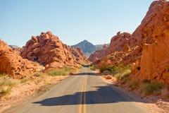 Abandone la carretera escénica Fotografía de archivo