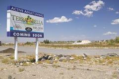 Abandone la construcción de nuevos hogares en Clark County, Las Vegas, nanovoltio Fotografía de archivo