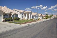 Abandone la construcción de nuevos hogares en Clark County, Las Vegas, nanovoltio Imágenes de archivo libres de regalías