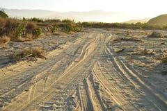 Abandone la mañana Baja, México del camino de la playa del paisaje Imagen de archivo libre de regalías