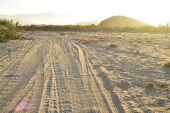 Abandone la mañana Baja, México del camino de la playa del paisaje Fotos de archivo libres de regalías