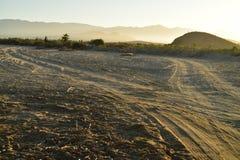 Abandone la mañana Baja, México del camino de la playa del paisaje Imagen de archivo