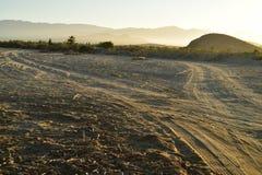 Abandone la mañana Baja, México del camino de la playa del paisaje Fotos de archivo