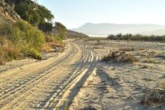 Abandone la mañana Baja, México del camino de la playa del paisaje Foto de archivo libre de regalías
