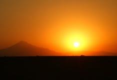 Abandone la puesta del sol Fotografía de archivo libre de regalías