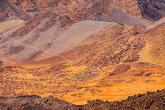 Abandone las arenas del volcán de Teide en Tenerife, España Fotos de archivo libres de regalías