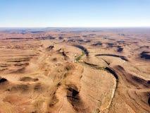 Abandone las dunas de arena en Namibia meridional tomada en enero de 2018 Foto de archivo libre de regalías
