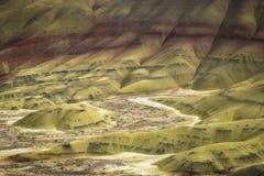 Abandone las formas y los colores, colinas pintadas, Oregon Foto de archivo libre de regalías