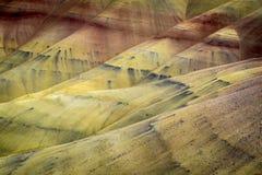 Abandone las formas y los colores, colinas pintadas, Oregon Fotografía de archivo