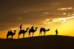 Abandone los paseos locales con el camello a través del desierto de Thar Fotografía de archivo libre de regalías