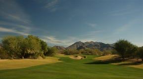 Abandone o campo de golfe Fotos de Stock Royalty Free