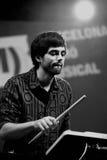 Abandone (o concerto da faixa eletrônica) no La musical Merce Festival de Barcelona Accio (BAM) Foto de Stock Royalty Free