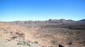 Abandone o vale/cratera - fundo da paisagem da montanha video estoque