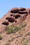 Paisagem da montanha do deserto com céu Cloudless imagem de stock