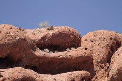 Paisagem da montanha do deserto com céu Cloudless foto de stock royalty free