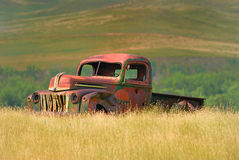 Abandoned. Old truck put out to pasture Stock Photo