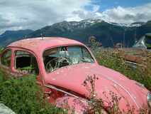 Abandoned. Car in Alaska Stock Images