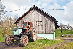 Abandoned agricultural machinery Stock Image