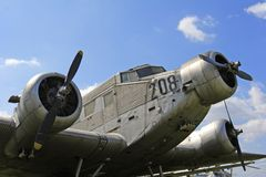 Abandoned aircraft. Abandoned Junkers JU 52 aircraft stock images