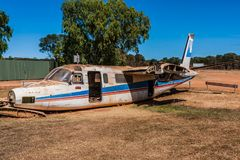 An abandoned aircraft in the Australian outback royalty free stock image