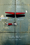 Abandoned Aircraft (Details). Details of fuselage of a series of IInd world war aircraft stored at airfield Stock Photography