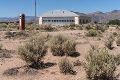 Abandoned aircraft hangar in the desert. Aircraft hangar in the Nevada desert Royalty Free Stock Photos