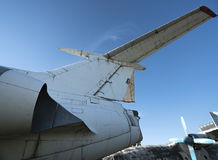 Abandoned airplanes. Close-up view with blue sky Royalty Free Stock Photos
