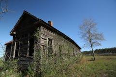 Abandoned Alabama wooden school house near Red Level Alabama Stock Photo