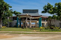 Abandoned All-Inclusive Resort In Cayo Coco, Cuba Front Entrance. This decaying resort started out as the El Senador then became the Emperador. It last welcomed stock image