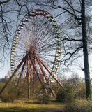 Abandoned Amusement Park. Old Ferris wheel in an abandoned amusement park Royalty Free Stock Images