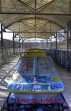 Abandoned Amusement Park in Berlin Stock Image