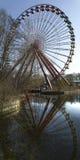 Abandoned Amusement Park Ferris Wheel Royalty Free Stock Photos