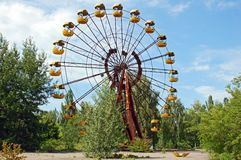 Abandoned amusement park in Pripyat Stock Image
