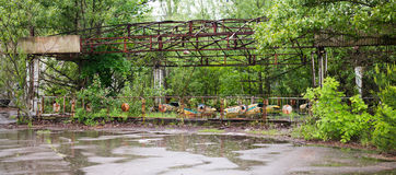 Abandoned amusement park in Pripyat Stock Photos
