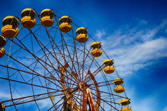 Abandoned amusement park in the Pripyat city Royalty Free Stock Photos