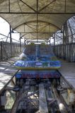 Abandoned Amusement Park Spreepark Berlin. Old abandoned roller coaster in Spreepark in Berlin Stock Image