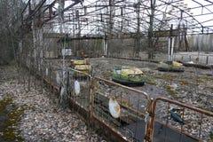 Abandoned amusements Pripyat, Chernobyl royalty free stock image