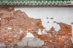 The abandoned ancient Chinese wall Stock Image